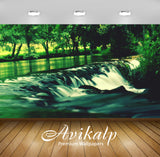 Avikalp Exclusive Awi1270 Waterfall Full HD Wallpapers for Living room, Hall, Kids Room, Kitchen, TV
