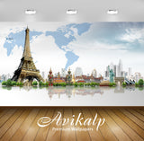 Avikalp Exclusive Awi1272 Paris Full HD Wallpapers for Living room, Hall, Kids Room, Kitchen, TV Bac