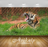 Avikalp Exclusive Awi1276 Tiger Roar Full HD Wallpapers for Living room, Hall, Kids Room, Kitchen, T