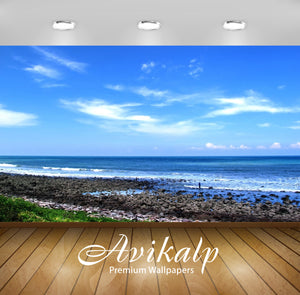Avikalp Exclusive Awi1286 Beach Full HD Wallpapers for Living room, Hall, Kids Room, Kitchen, TV Bac