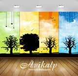 Avikalp Exclusive Awi1287 Tree Life Full HD Wallpapers for Living room, Hall, Kids Room, Kitchen, TV