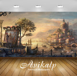 Avikalp Exclusive Awi1316 Painting In Painting Fort Full HD Wallpapers for Living room, Hall, Kids R