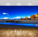 Avikalp Exclusive Awi1319 Island Beach Full HD Wallpapers for Living room, Hall, Kids Room, Kitchen,