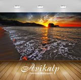 Avikalp Exclusive Awi1323 Sea Shore Sunrise Full HD Wallpapers for Living room, Hall, Kids Room, Kit