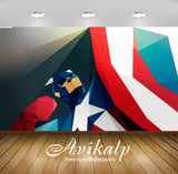 Avikalp Exclusive Awi1345 Captain America Art Full HD Wallpapers for Living room, Hall, Kids Room, K