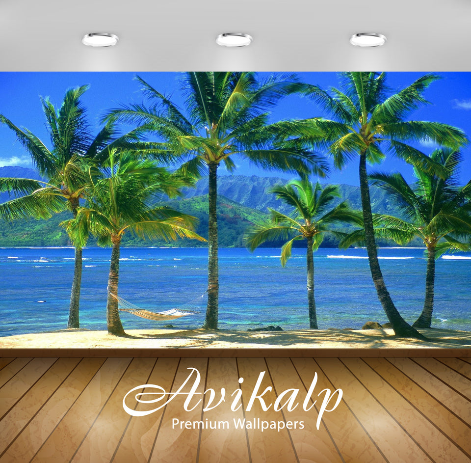 Avikalp Exclusive Awi1362 Amazing Beach View Full HD Wallpapers for Living room, Hall, Kids Room, Ki
