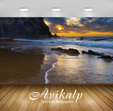 Avikalp Exclusive Awi1369 Amazing Beach Sunset View Full HD Wallpapers for Living room, Hall, Kids R