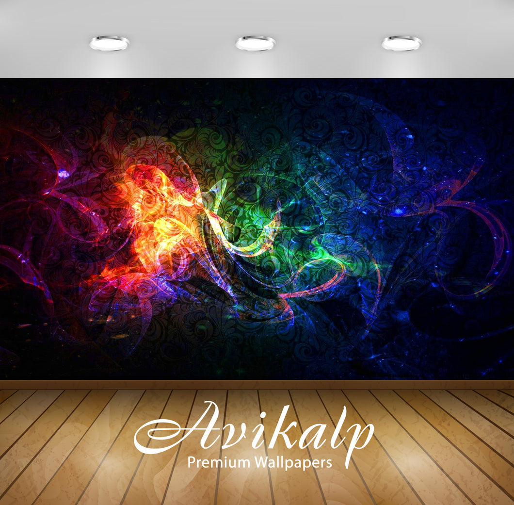 Avikalp Exclusive Awi1377 Color Splash Full HD Wallpapers for Living room, Hall, Kids Room, Kitchen,