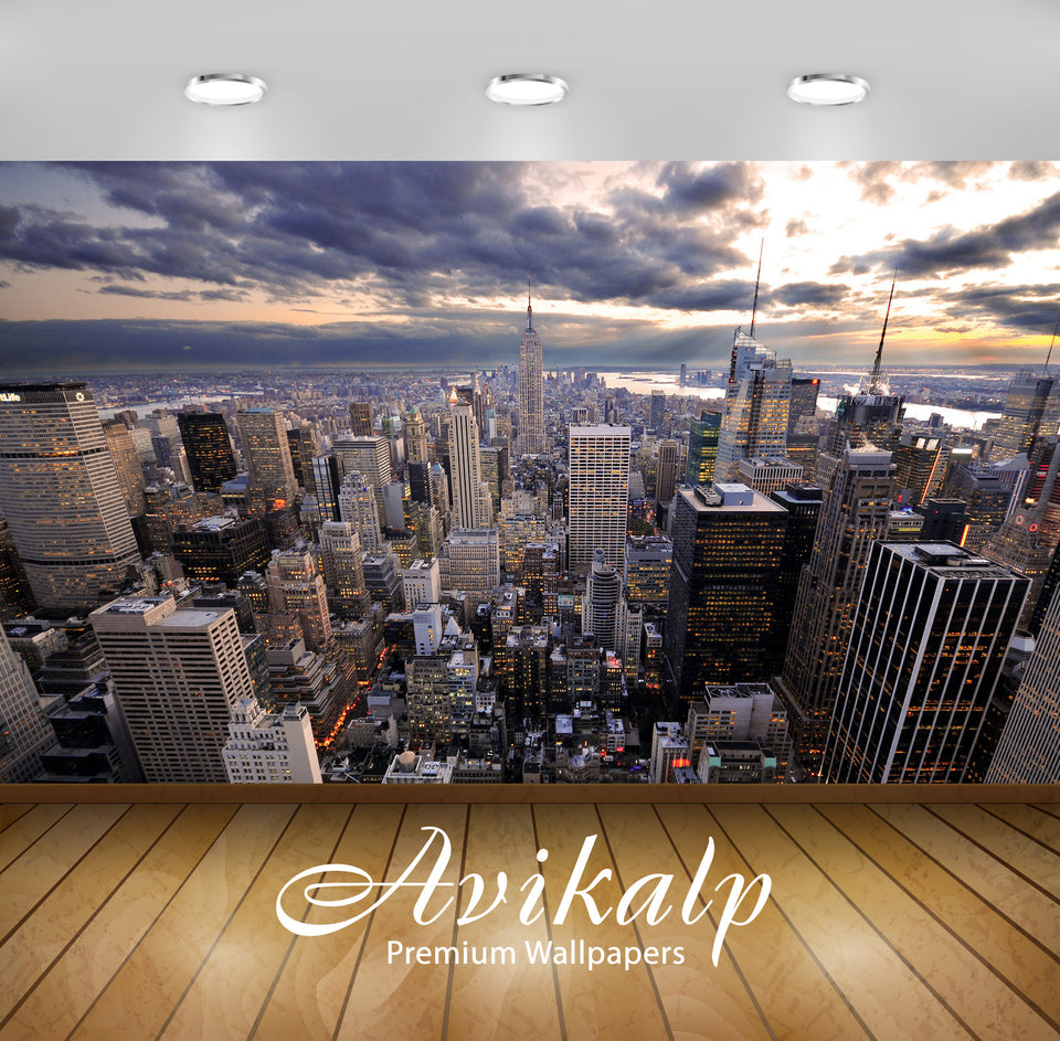 Avikalp Exclusive Awi1393 New York City Full HD Wallpapers for Living room, Hall, Kids Room, Kitchen