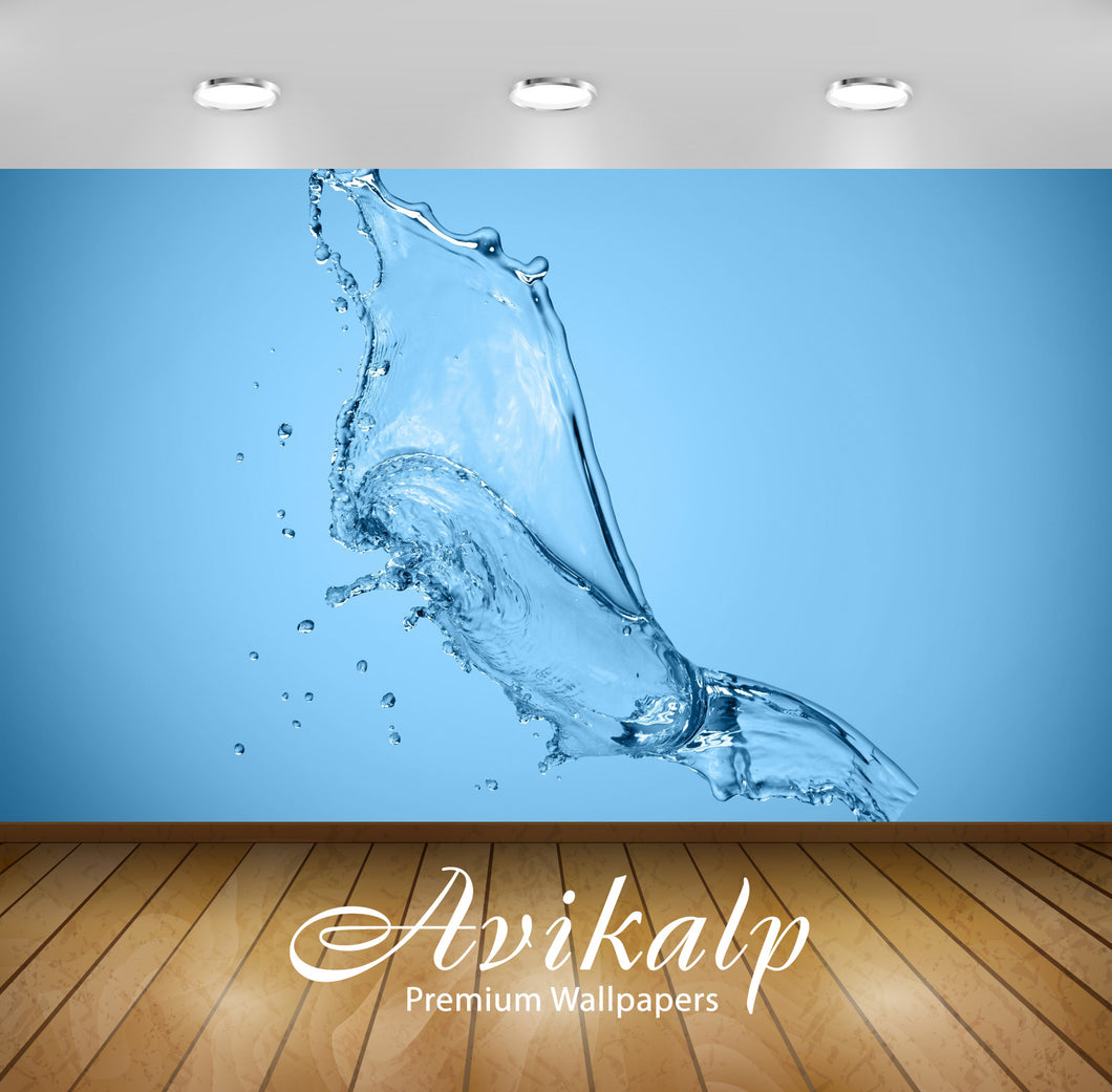 Avikalp Exclusive Awi1399 Water Splash Full HD Wallpapers for Living room, Hall, Kids Room, Kitchen,