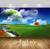 Avikalp Exclusive Awi1404 Scenery Imazination Nature Full HD Wallpapers for Living room, Hall, Kids