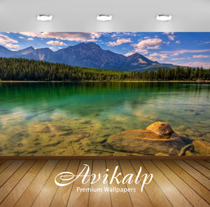 Avikalp Exclusive Awi1411 Landscape Nature Full HD Wallpapers for Living room, Hall, Kids Room, Kitc