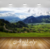 Avikalp Exclusive Awi1416 Nature Greenery Mountain Full HD Wallpapers for Living room, Hall, Kids Ro