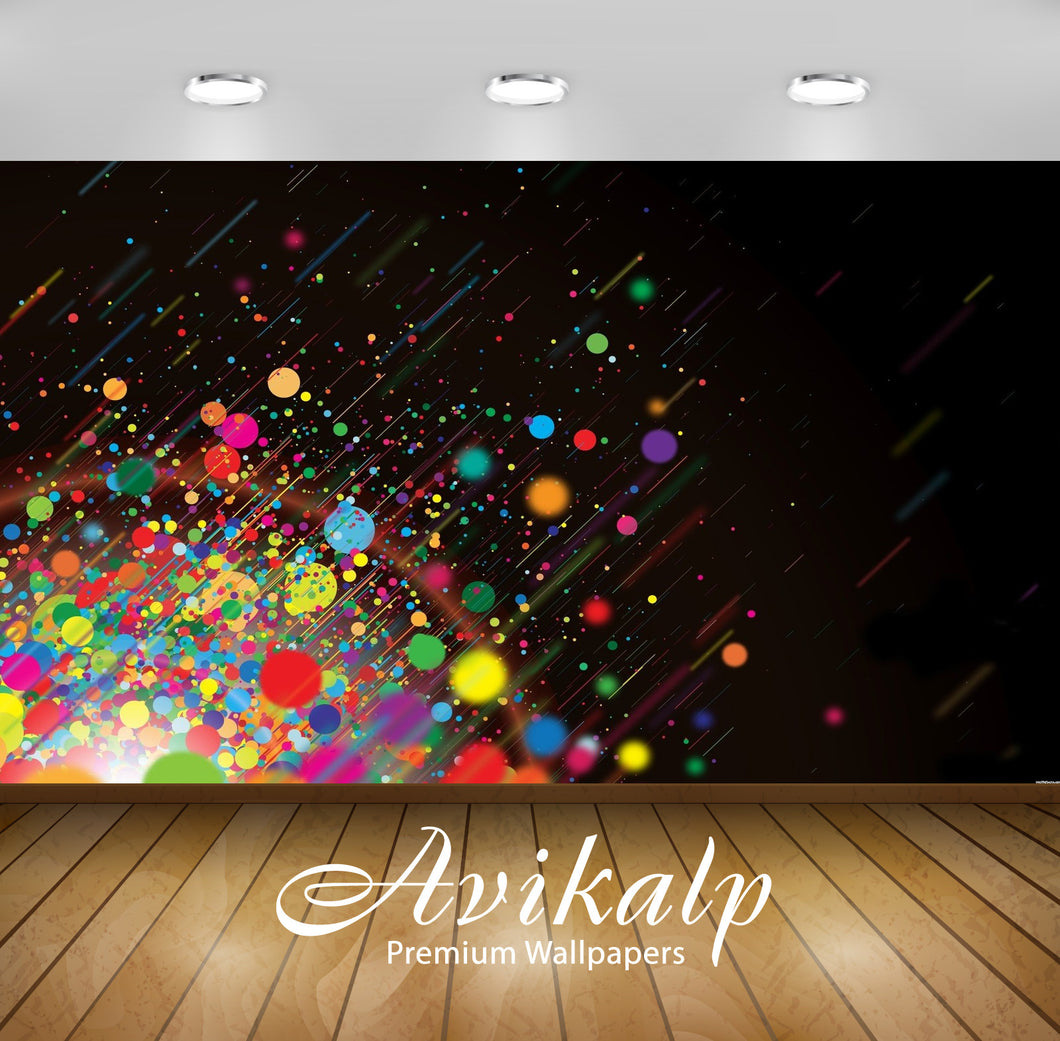 Avikalp Exclusive Awi1417 Color Splash Full HD Wallpapers for Living room, Hall, Kids Room, Kitchen,