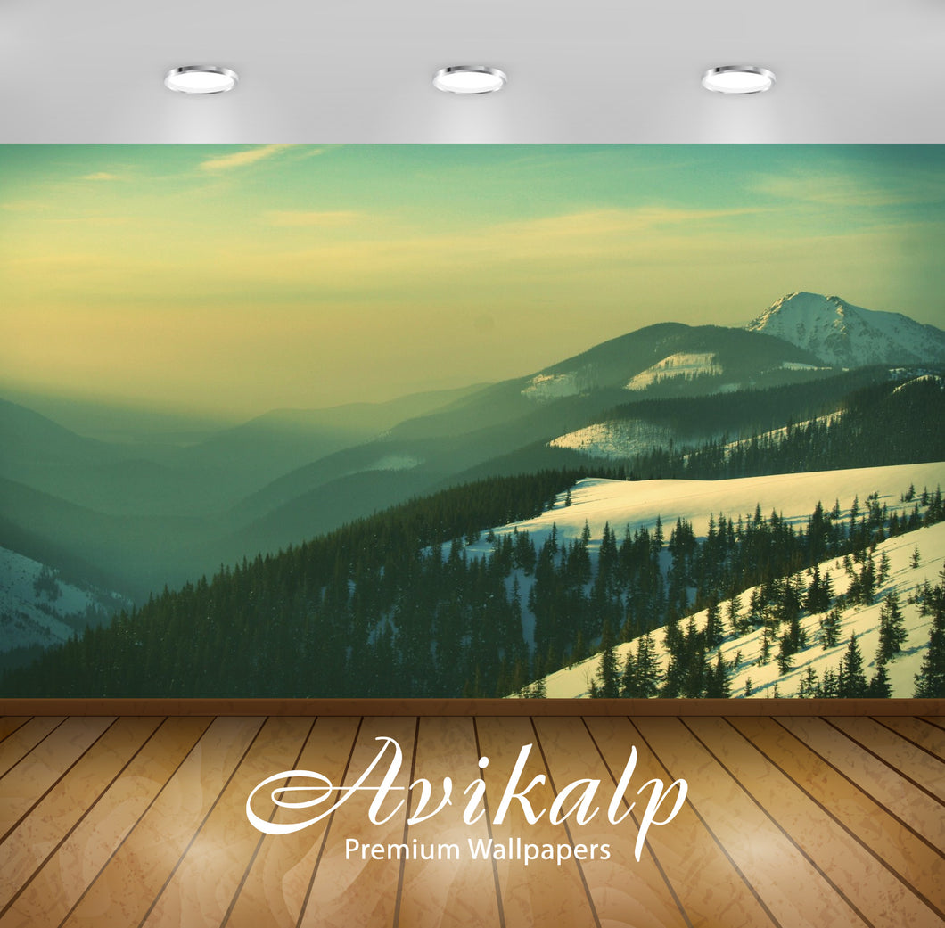 Avikalp Exclusive Awi1420 Snowy Mountain Full HD Wallpapers for Living room, Hall, Kids Room, Kitche