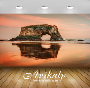 Avikalp Exclusive Awi1423 Natural Bridges State Beach Full HD Wallpapers for Living room, Hall, Kids