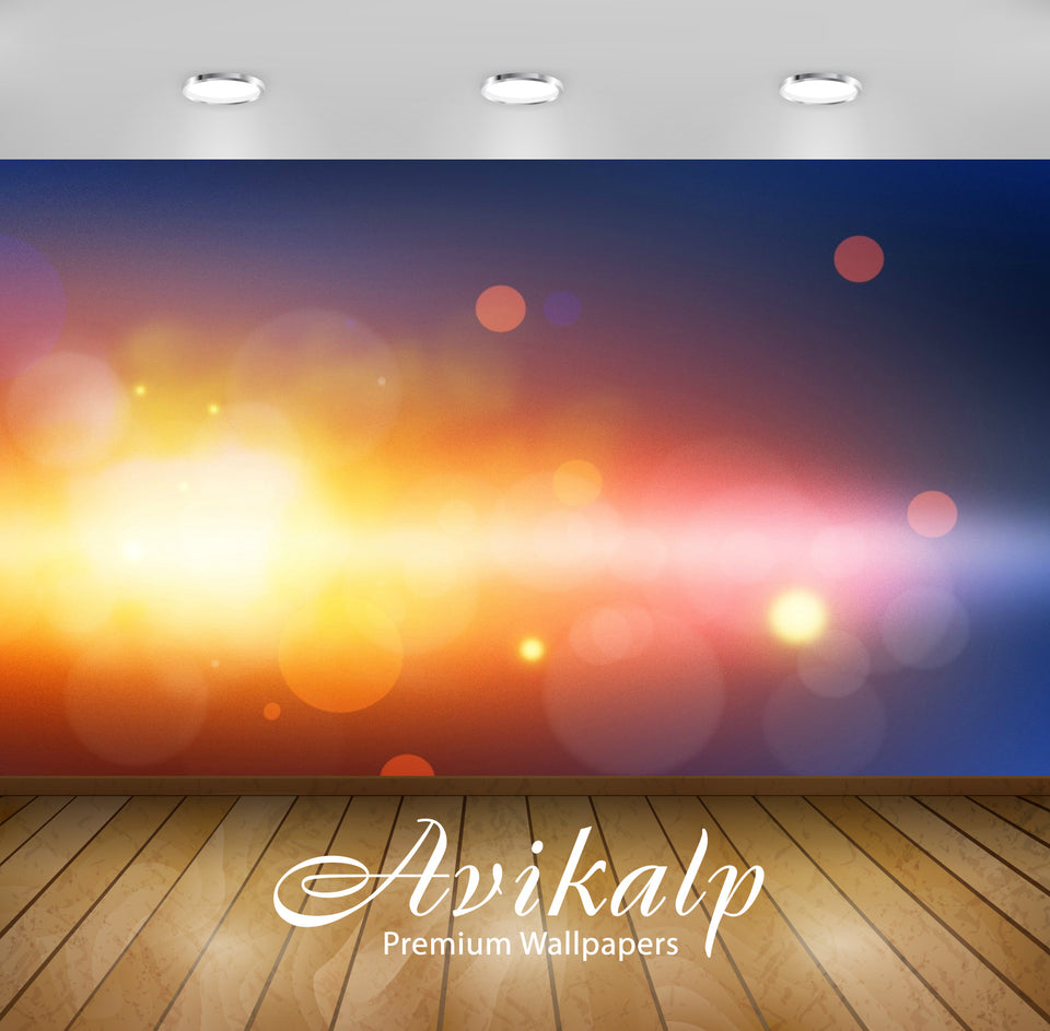 Avikalp Exclusive Awi1434 Color Bokeh Full HD Wallpapers for Living room, Hall, Kids Room, Kitchen,