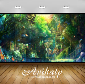 Avikalp Exclusive Awi1435 Anime House In Forest Full HD Wallpapers for Living room, Hall, Kids Room,