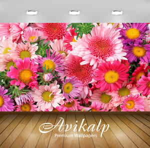 Avikalp Exclusive Awi1452 Beautiful Flowers Full HD Wallpapers for Living room, Hall, Kids Room, Kit