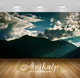 Avikalp Exclusive Awi1477 Scenery Mountains Clouds Full HD Wallpapers for Living room, Hall, Kids Ro