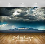 Avikalp Exclusive Awi1480 Cloudy Landscape Full HD Wallpapers for Living room, Hall, Kids Room, Kitc