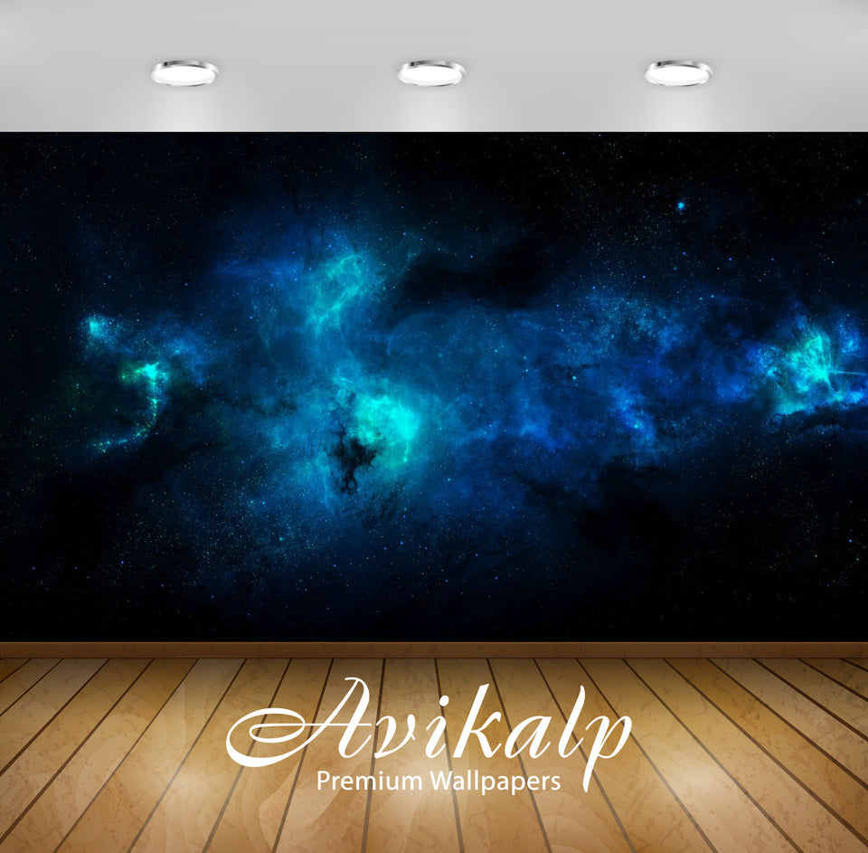 Avikalp Exclusive Awi1498 Blue Space Full HD Wallpapers for Living room, Hall, Kids Room, Kitchen, T