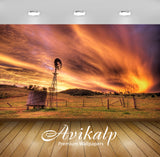 Avikalp Exclusive Awi1511 Fire In The Sky Full HD Wallpapers for Living room, Hall, Kids Room, Kitch