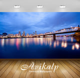 Avikalp Exclusive Awi1514 Portland City View Full HD Wallpapers for Living room, Hall, Kids Room, Ki