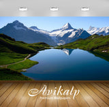 Avikalp Exclusive Awi1534 Nature Lake Mountains Full HD Wallpapers for Living room, Hall, Kids Room,