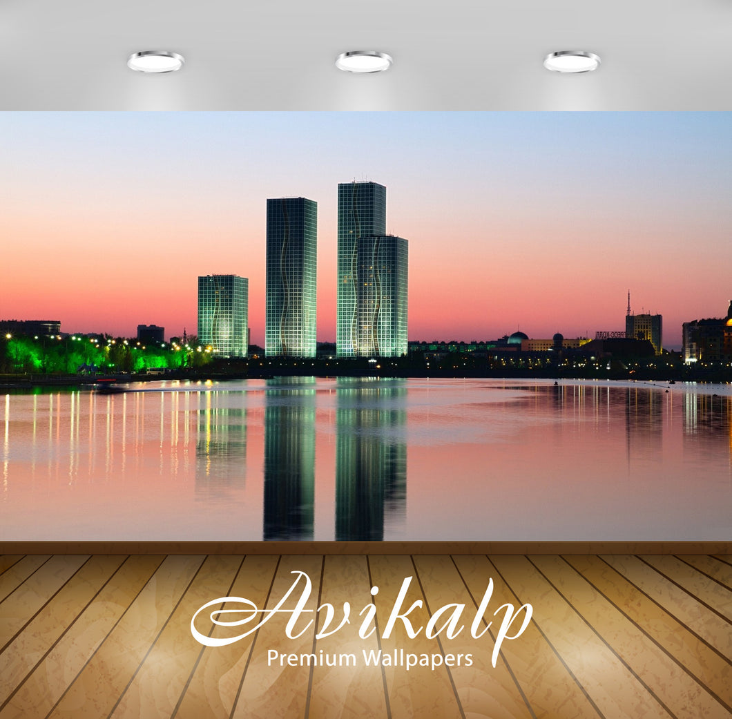 Avikalp Exclusive Awi1555 Astana Kazakhstan City View Full HD Wallpapers for Living room, Hall, Kids