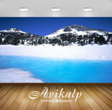 Avikalp Exclusive Awi1565 Snowy Mountain Lake View Full HD Wallpapers for Living room, Hall, Kids Ro