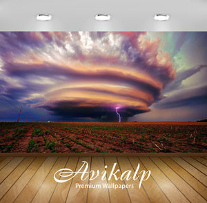 Avikalp Exclusive Awi1570 Tornado And Lightning Full HD Wallpapers for Living room, Hall, Kids Room,