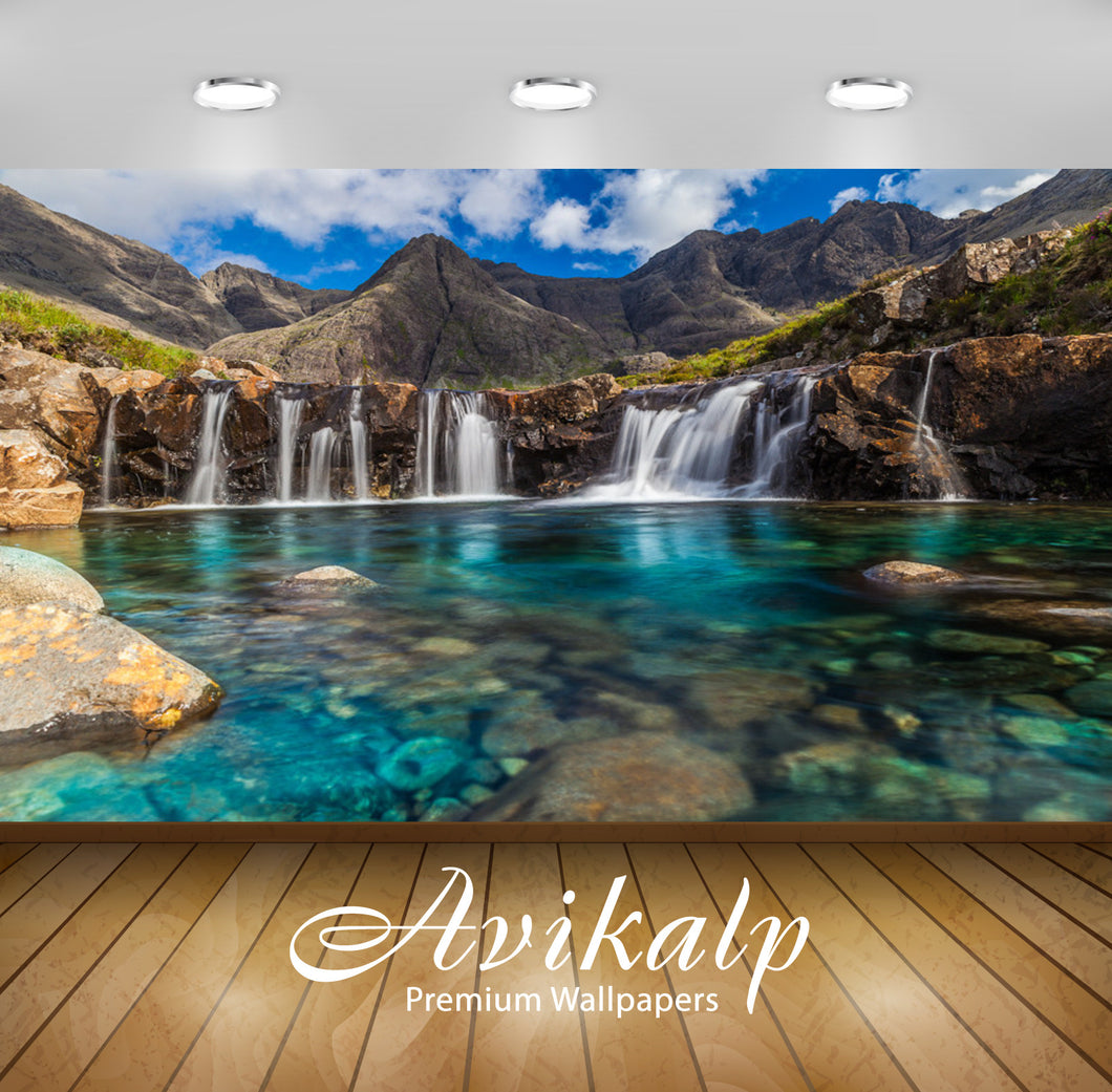 Avikalp Exclusive Awi1582 Beautiful Waterfall Full HD Wallpapers for Living room, Hall, Kids Room, K