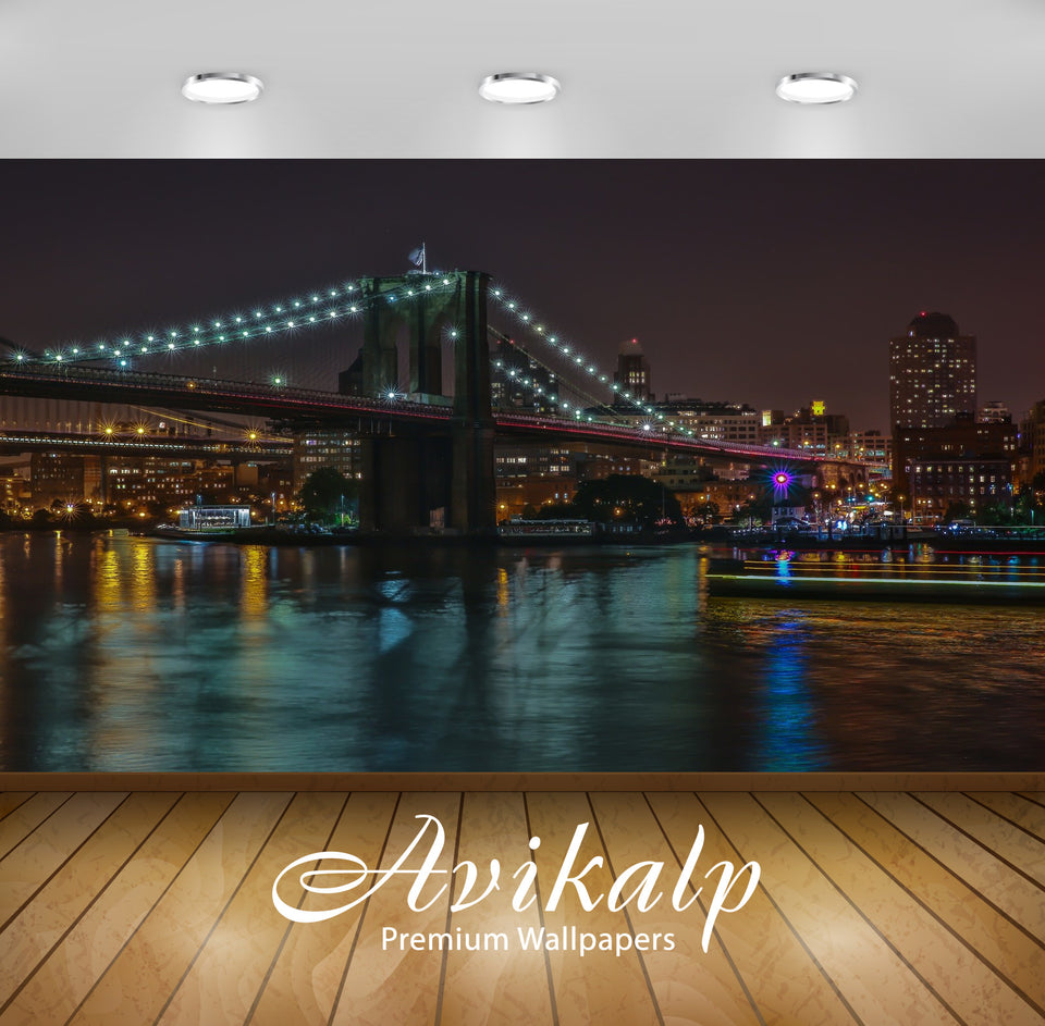 Avikalp Exclusive Awi1603 New York City Full HD Wallpapers for Living room, Hall, Kids Room, Kitchen