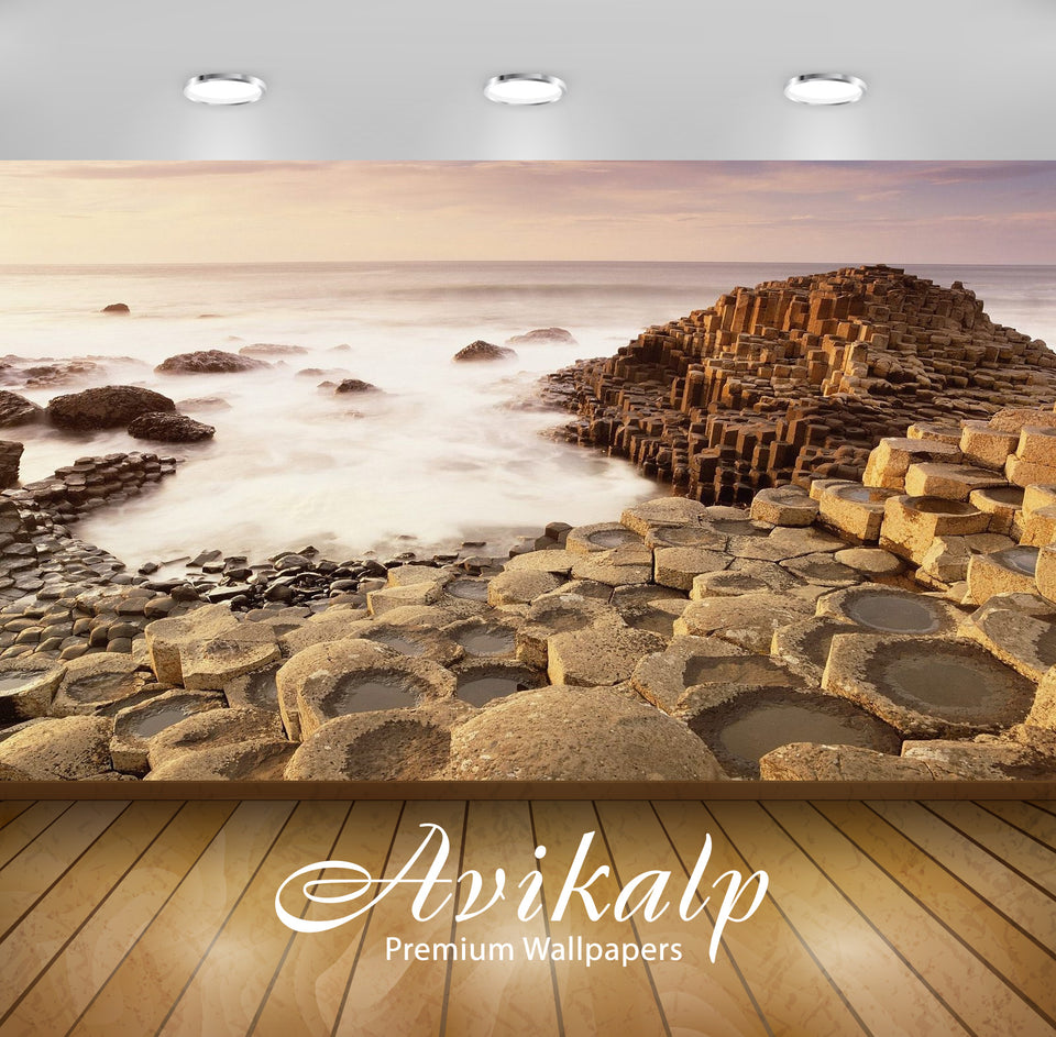 Avikalp Exclusive Awi1610 Giant Causeway Northern Ireland Full HD Wallpapers for Living room, Hall,