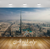 Avikalp Exclusive Awi1620 Burj Khalifa Dubai City View Full HD Wallpapers for Living room, Hall, Kid