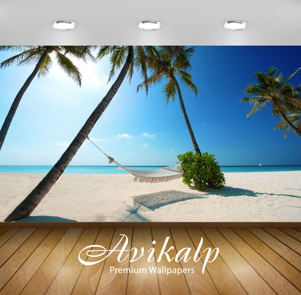 Avikalp Exclusive Awi1622 Beautiful Beach View Full HD Wallpapers for Living room, Hall, Kids Room,