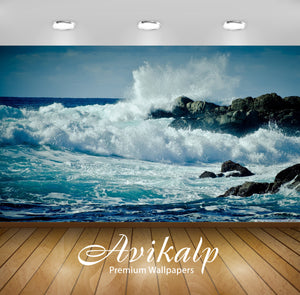Avikalp Exclusive Awi1625 Amazing Sea Waves Full HD Wallpapers for Living room, Hall, Kids Room, Kit