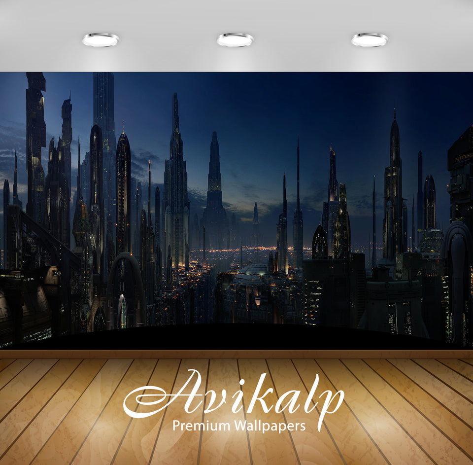 Avikalp Exclusive Awi1638 Star Wars Coruscant Full HD Wallpapers for Living room, Hall, Kids Room, K