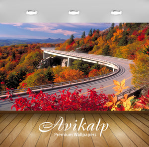 Avikalp Exclusive Awi1669 Beautiful Scenery Road Full HD Wallpapers for Living room, Hall, Kids Room