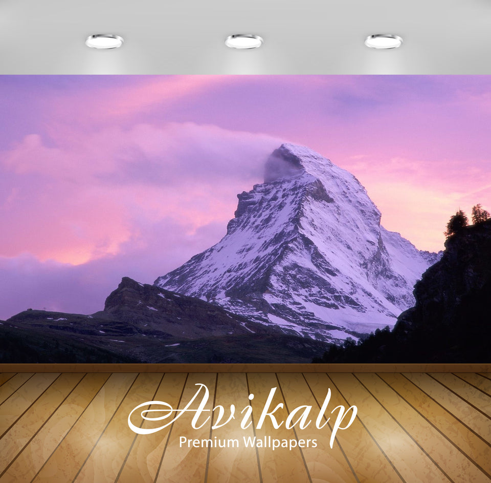 Avikalp Exclusive Awi1676 Snowy Mountain Full HD Wallpapers for Living room, Hall, Kids Room, Kitche
