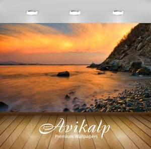 Avikalp Exclusive Awi1678 Beautiful Sea Shore Full HD Wallpapers for Living room, Hall, Kids Room, K