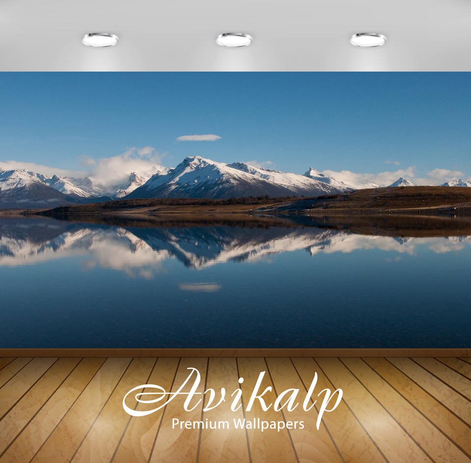 Avikalp Exclusive Awi1683 Snowy Mountain Reflection Full HD Wallpapers for Living room, Hall, Kids R