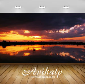Avikalp Exclusive Awi1684 Beautiful Sunset Full HD Wallpapers for Living room, Hall, Kids Room, Kitc