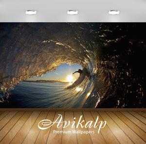 Avikalp Exclusive Awi1699 Water Sports High Waves Full HD Wallpapers for Living room, Hall, Kids Roo