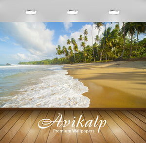 Avikalp Exclusive Awi1739 Beautiful Beach Full HD Wallpapers for Living room, Hall, Kids Room, Kitch