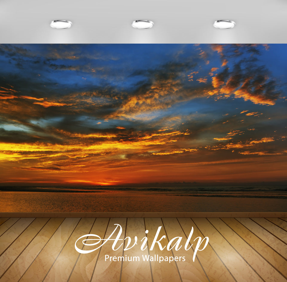 Avikalp Exclusive Awi1750 Beautiful Sunset Full HD Wallpapers for Living room, Hall, Kids Room, Kitc