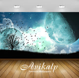 Avikalp Exclusive Awi1751 Planet Birds Abstract Full HD Wallpapers for Living room, Hall, Kids Room,