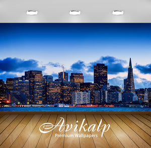 Avikalp Exclusive Awi1768 San Francisco City View Full HD Wallpapers for Living room, Hall, Kids Roo