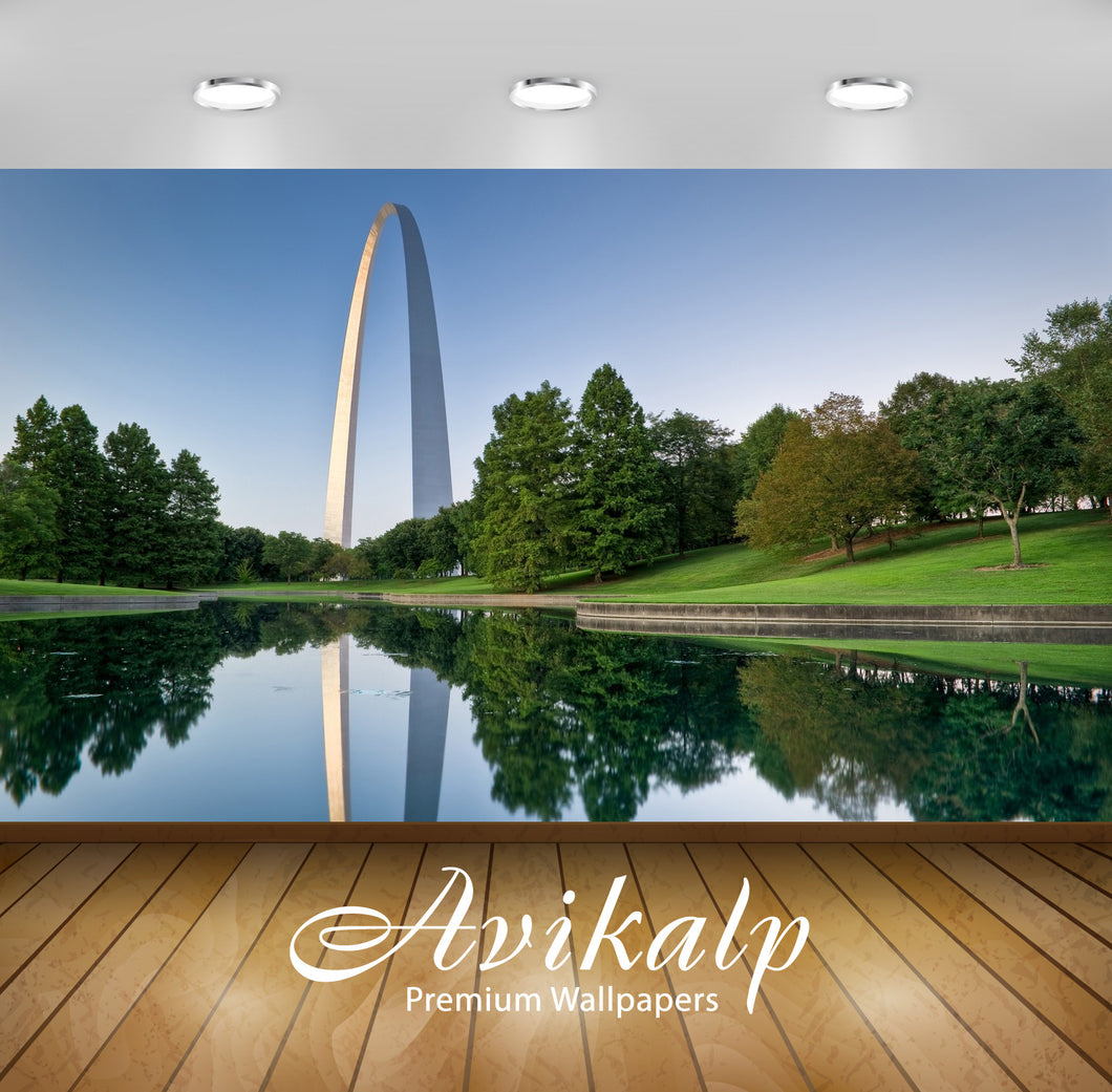Avikalp Exclusive Awi1778 The Jefferson National Expansion Memorial Park Full HD Wallpapers for Livi